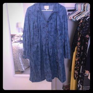 ModCloth long sleeve denim palm dress
